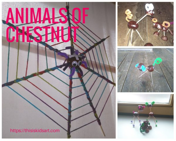Create Animals of chestnuts