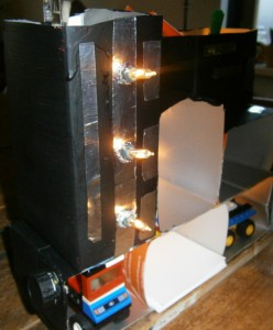 DIY office box with lights
