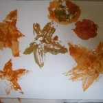 Painting with leaves