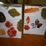 leaf painted boxes