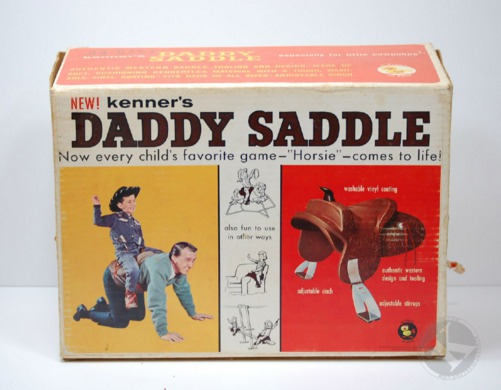 The worst kids toys, saddle for daddy