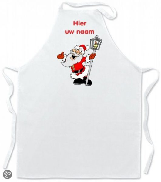 Santa Claus name apron