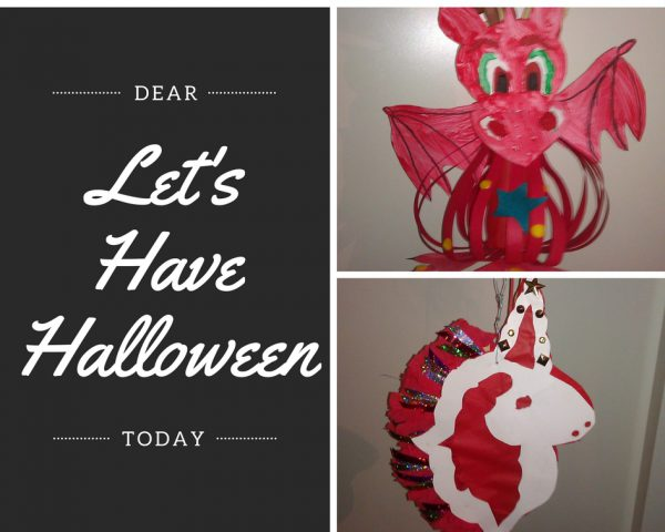 Lets Have Halloween, dragon lampion, unicorn lampion