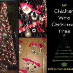 DIY Chicken wire Christmas Tree