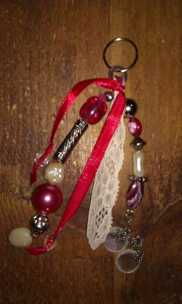 2 baghanger-keyring color red