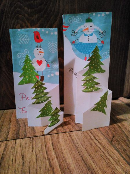 Christmas cards DIY from gift wrap paper