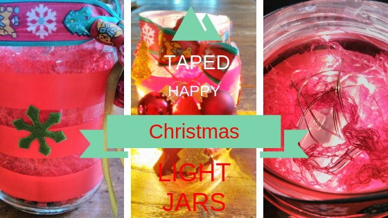 Taped Christmas Light Jars