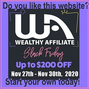 Start your own website black friday offer